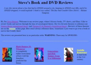 Steve's Book and DVD Reviews
